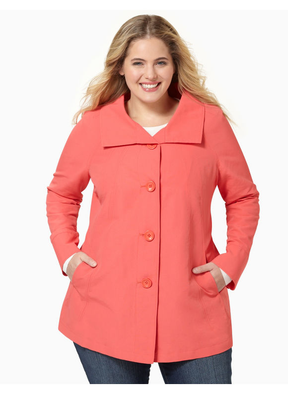 Catherines Womens Plus Size/Peach A-Line Jacket - Size 3X