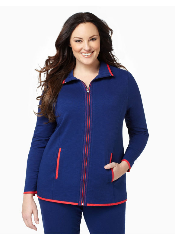 Catherines Womens Plus Size/Midnight Blue On-The-Go Jacket - Size 1X,