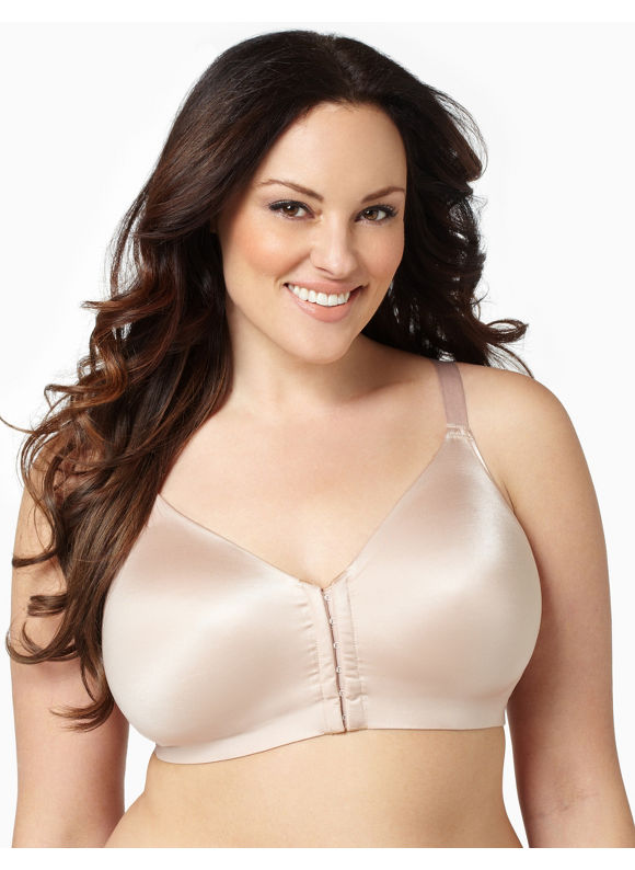 Catherines Womens Plus Size/Almond Serenada Front-Close Back-