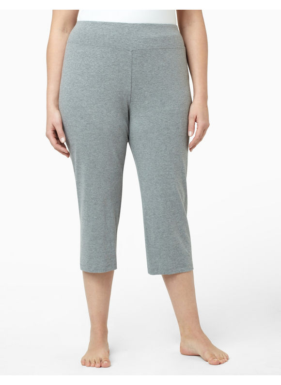 Catherines Women's Plus Size/Light Heather Grey Lounge Capri
