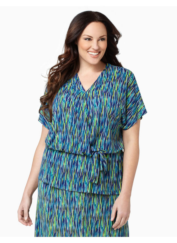 Catherines Womens Plus Size/Multi Color Monte Carlo Top - Size 2X