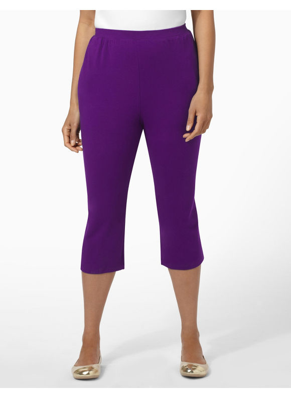 Catherines Women's Plus Size/Regal Purple Suprema Knit Capri