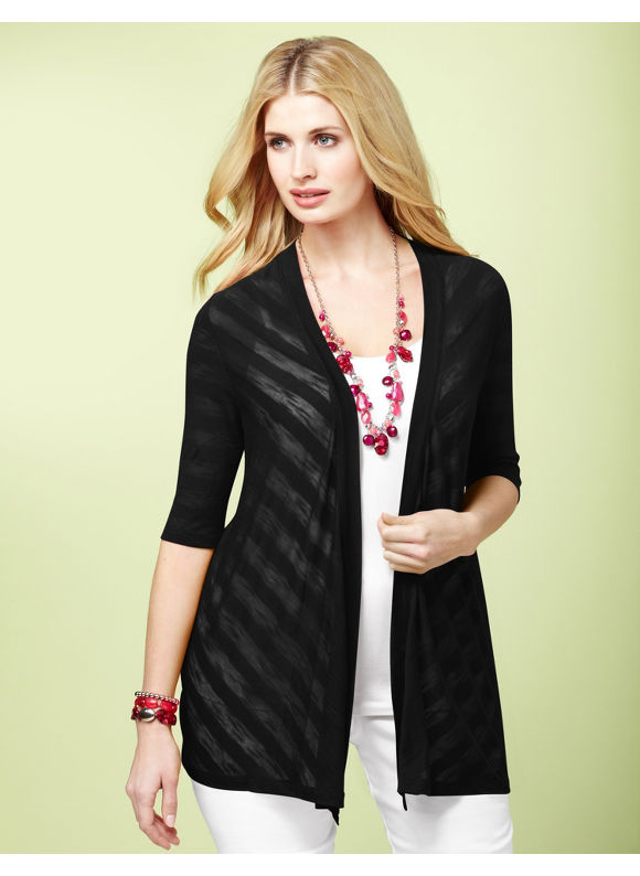 Catherines Womens Plus Size/Black Art Of Layering Cardigan - Size 0X