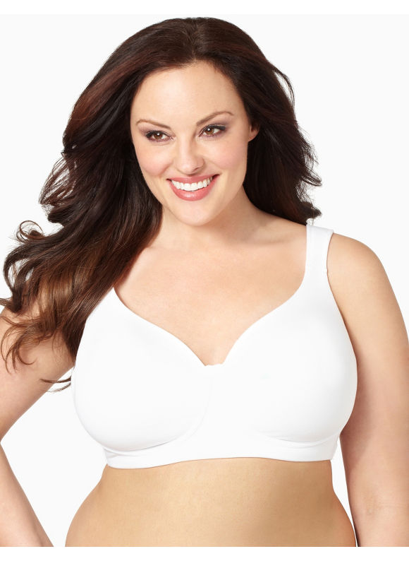 Image of Catherines Plus Size NoWire Cotton TShirt Bra  Womens Size 48C White