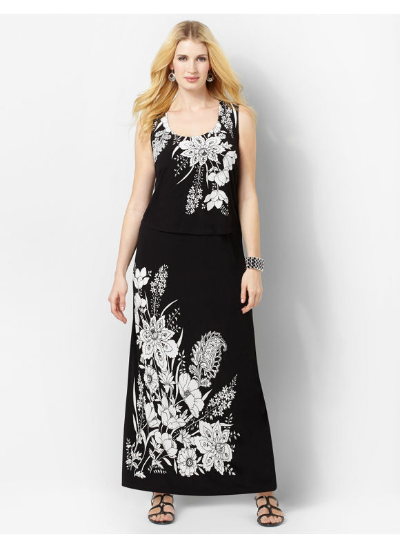 Catherines Women's Plus Size/Black Facade Maxi