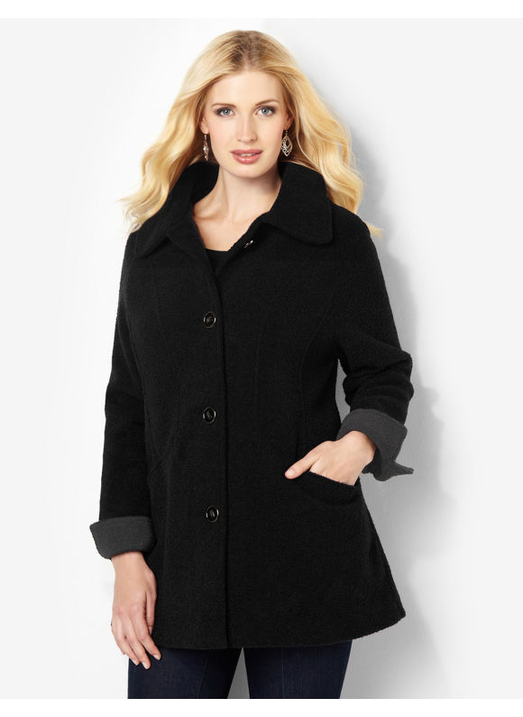 Catherines Plus Size Bridgeport Coat - Black