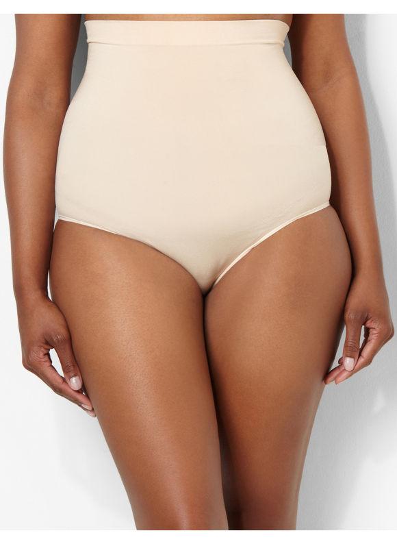 Catherines Intimates Plus Size Seamless Hi-Waist Brief, Women's, Size: 0X, Nude