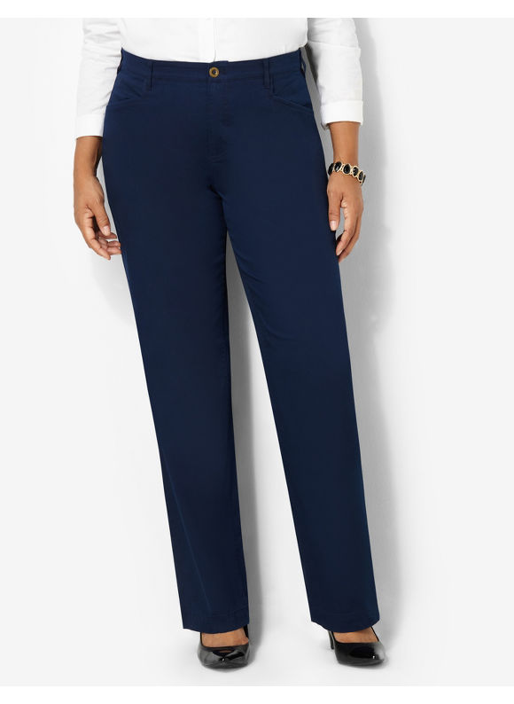 Catherines Plus Size Comfort Waist Pant - Mariner Navy