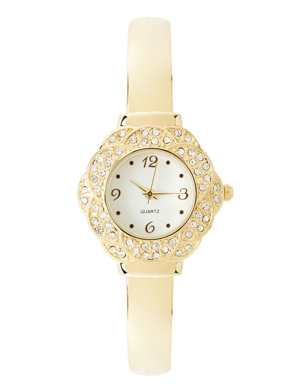 Catherines Plus Size Flourish Watch - Women's Size One Size, Gold Tone
