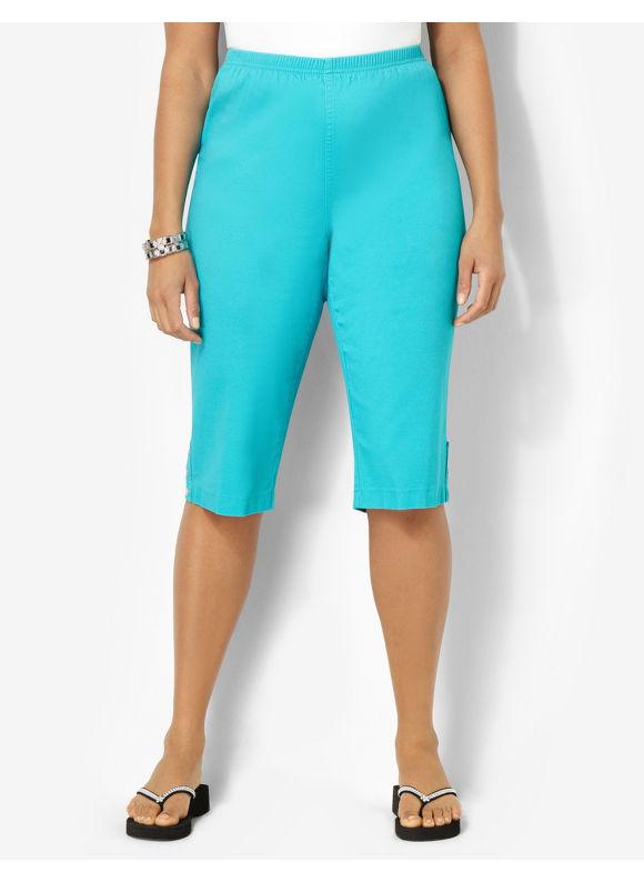 Image of Catherines Plus Size Everyday Fit Capri  Womens Size 0X Ceramic