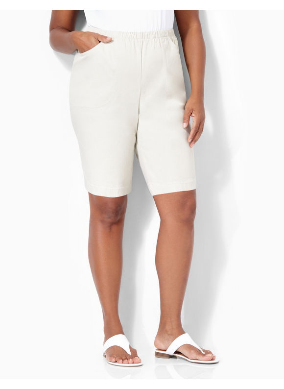 Catherines Plus Size Everyday Color Short - Stone