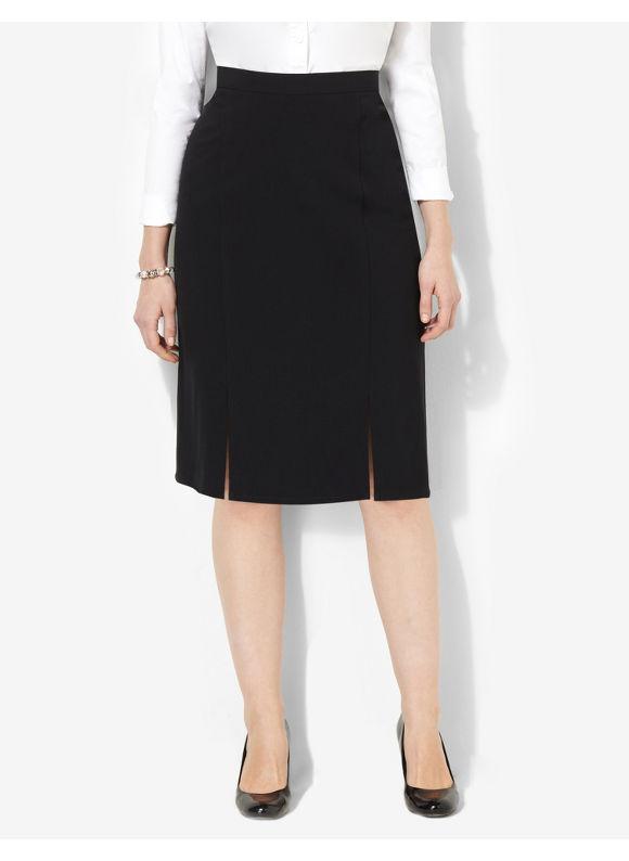 Image of Catherines Plus Size Sleek Pencil Skirt  Womens Size 2X Black