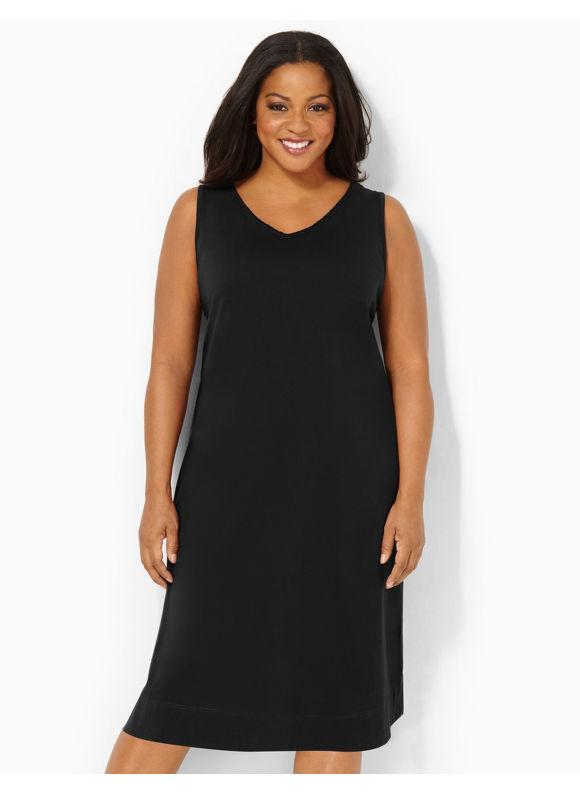 Image of Catherines Plus Size Braided Beauty Sleepshirt  Womens Size 0X Black