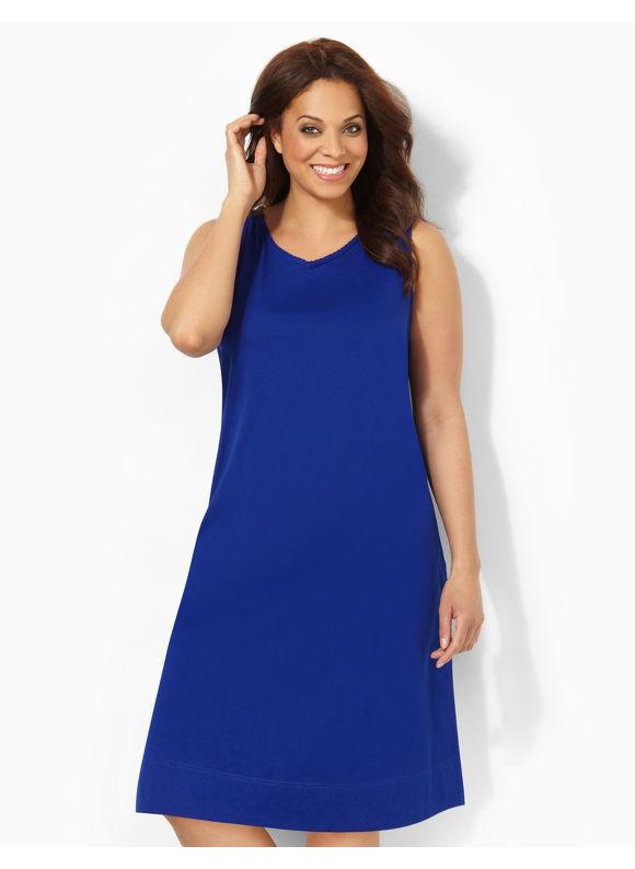 Image of Catherines Plus Size Braided Beauty Sleepshirt  Womens Size 0X Dark Blue