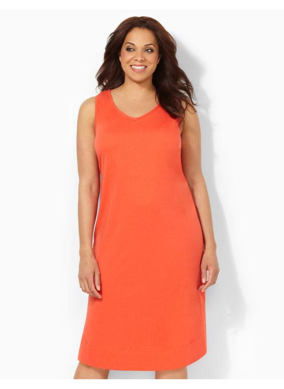 Image of Catherines Plus Size Braided Beauty Sleepshirt  Womens Size 2X Red
