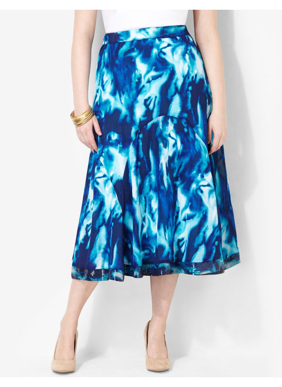 Image of Catherines Plus Size Electric Blue Skirt  Womens Size 0X Surf the Web