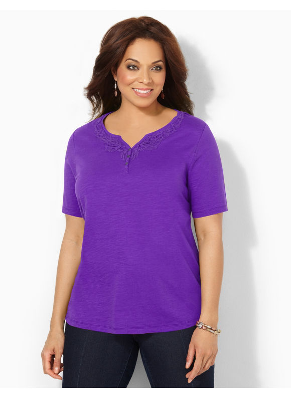Image of Catherines Plus Size Fresh Medley Top  Womens Size 0X Violet