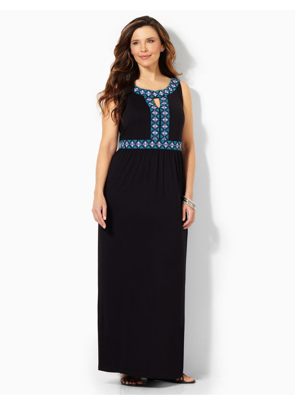 Image of Plus Size Artifact Maxi Catherines Womens Size 3X Black