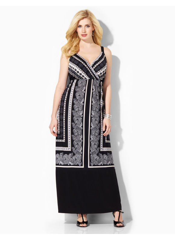 Image of Plus Size New Decor Maxi Catherines Womens Size 0X Black