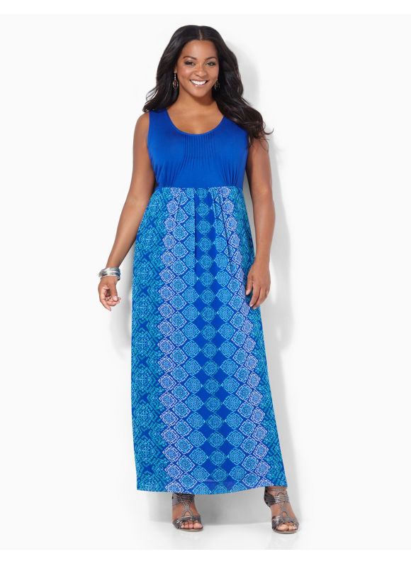 Image of Plus Size Heritage Maxi Catherines Womens Size 0X Surf the Web