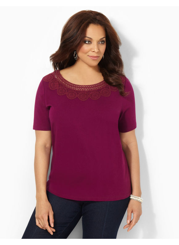 Image of Catherines Plus Size Cirque Tee  Womens Size 1X Plumberry