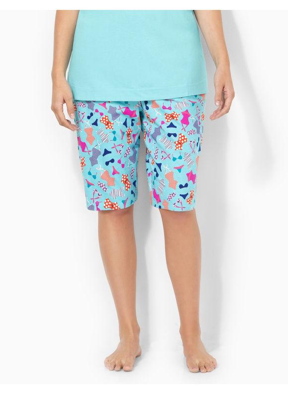 Image of Catherines Plus Size Swimsuit Bermuda Sleep Short  Womens Size 2X Aqua