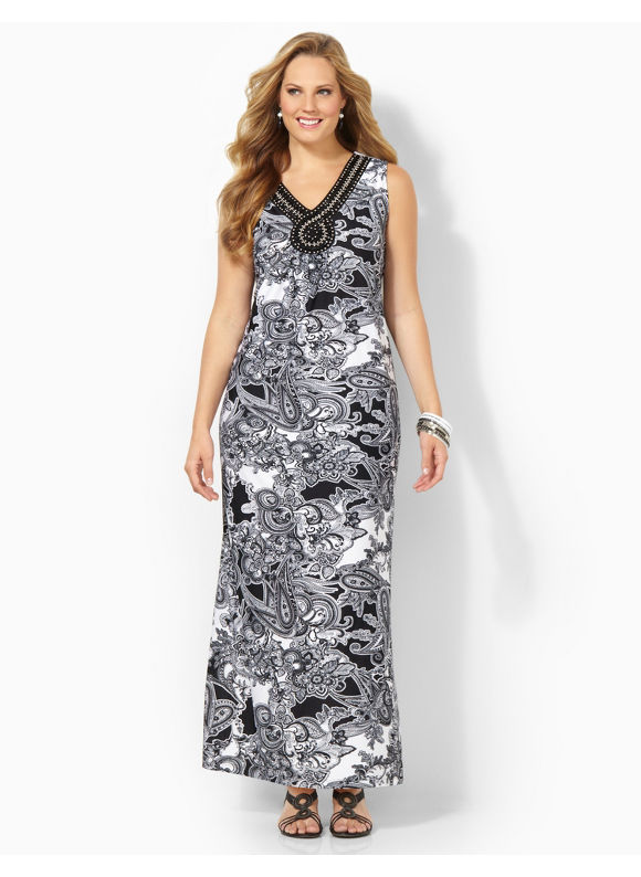 Image of Plus Size Sketchbook Maxi Catherines Womens Size 1X Black