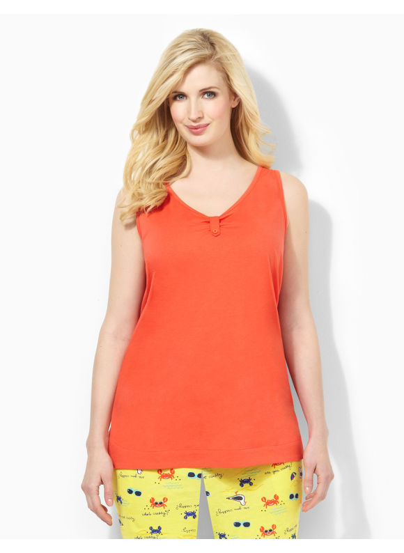 Image of Catherines Plus Size Tabbed Sleep Tank  Womens Size 0X Cherry