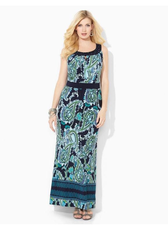 Image of Plus Size Vero Beach Maxi Catherines Womens Size 1X3X Navy