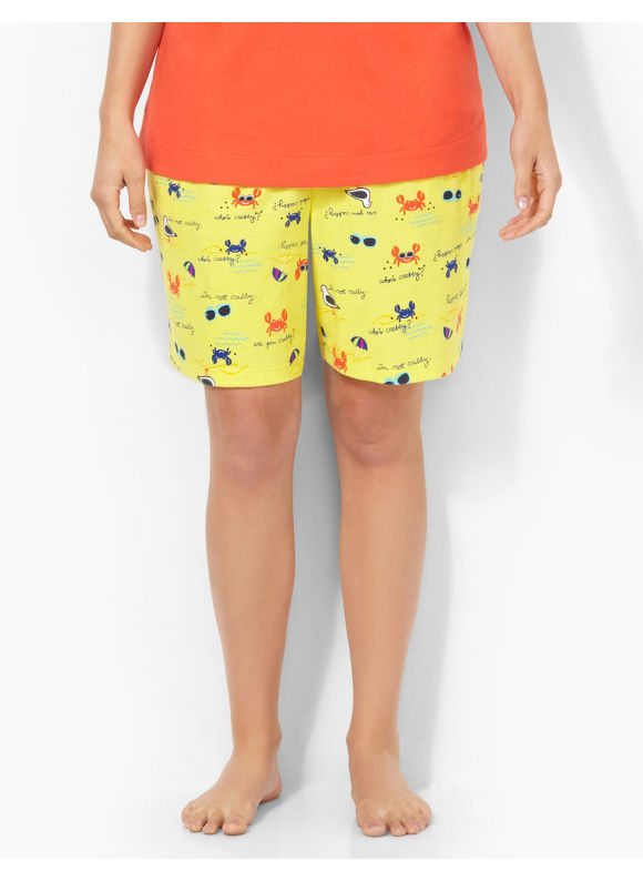 Image of Catherines Plus Size Summer Fun Boxer Sleep Short  Womens Size 0X Light Yellow