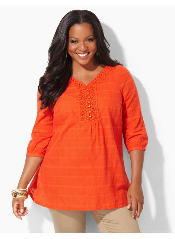 Image of Catherines Plus Size Bayside Shirt  Womens Size 0X Orange