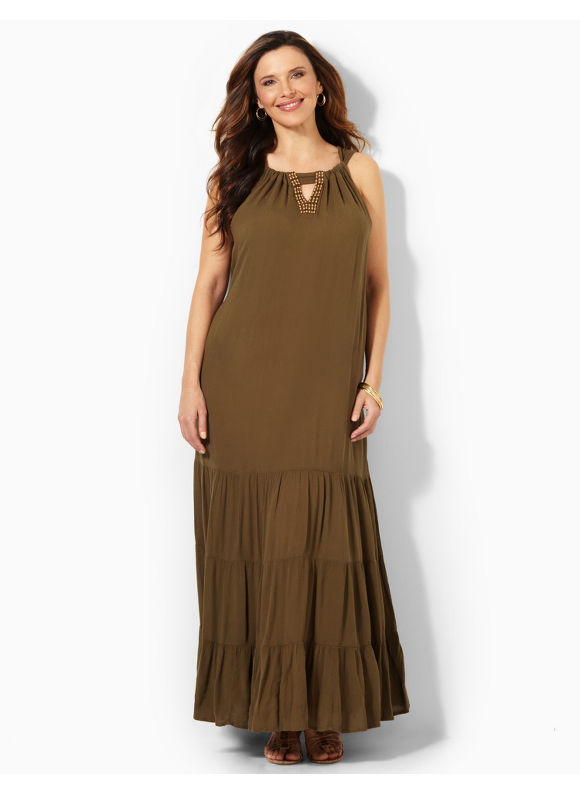 Image of Plus Size Endeavor Maxi Catherines Womens Size 0X Ivy Green