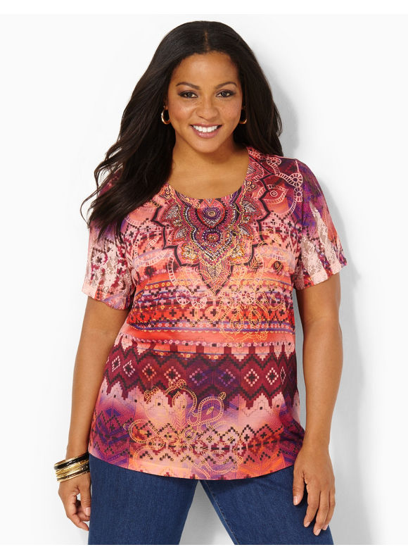 Image of Catherines Plus Size Transcendence Top  Womens Size 0X Wild Rasberry