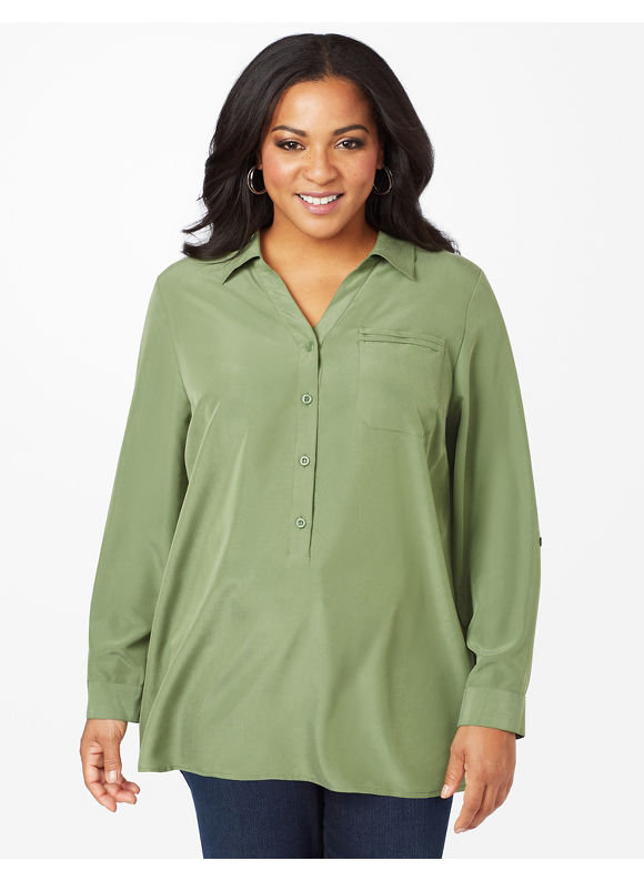 Plus Size The Refresh Blouse - English Garden Catherines