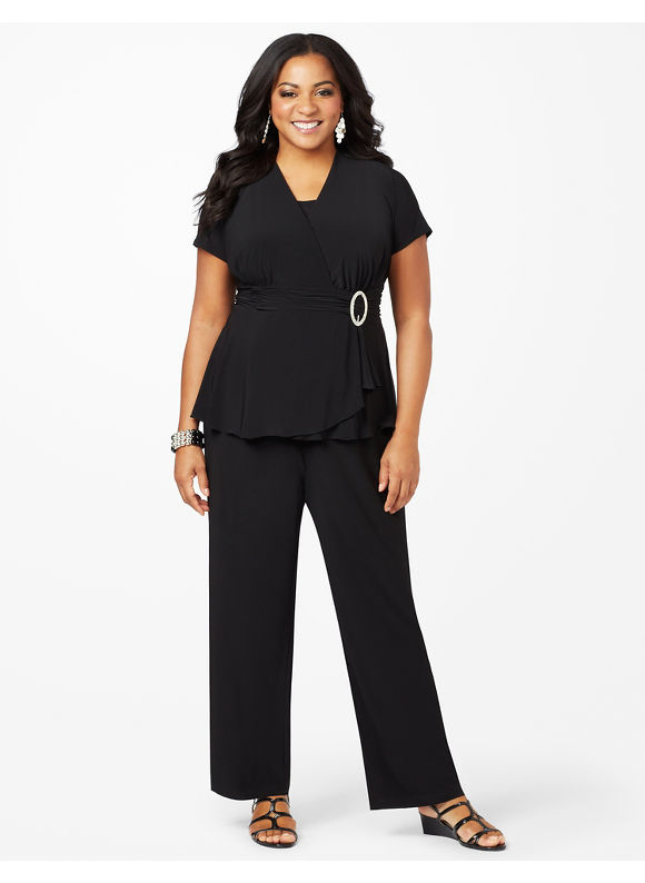 Catherines Plus Size Refined Style Pantsuit