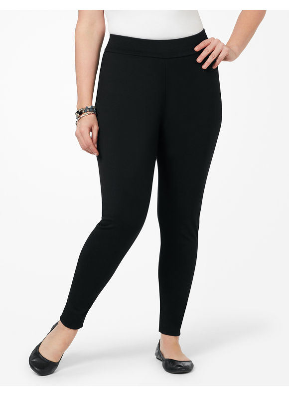 Catherines Plus Size Secret Slimmer Legging - Women's Size 1X, Black