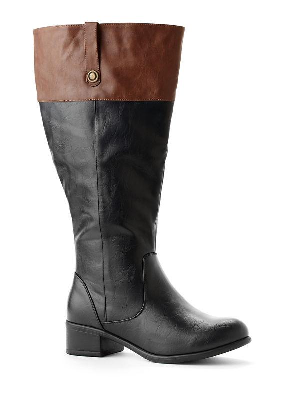 Catherines Plus Size Tonal Riding Boot - Womens Size 11 W black $57.99 AT vintagedancer.com