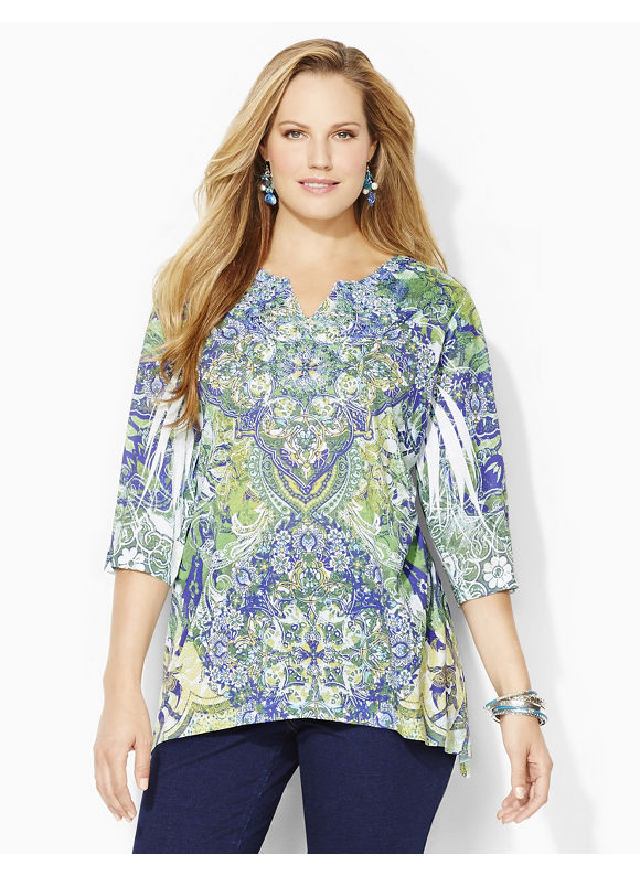 Catherines Plus Size Napa Valley Top - WHorn Blue