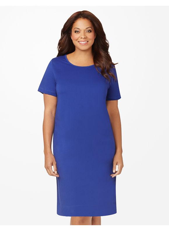 Catherines Plus Size Scallop Sleepshirt - Galaxy Blue