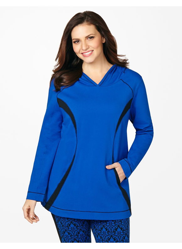 Catherines Plus Size Active Contrast Pullover, - Surf The Web