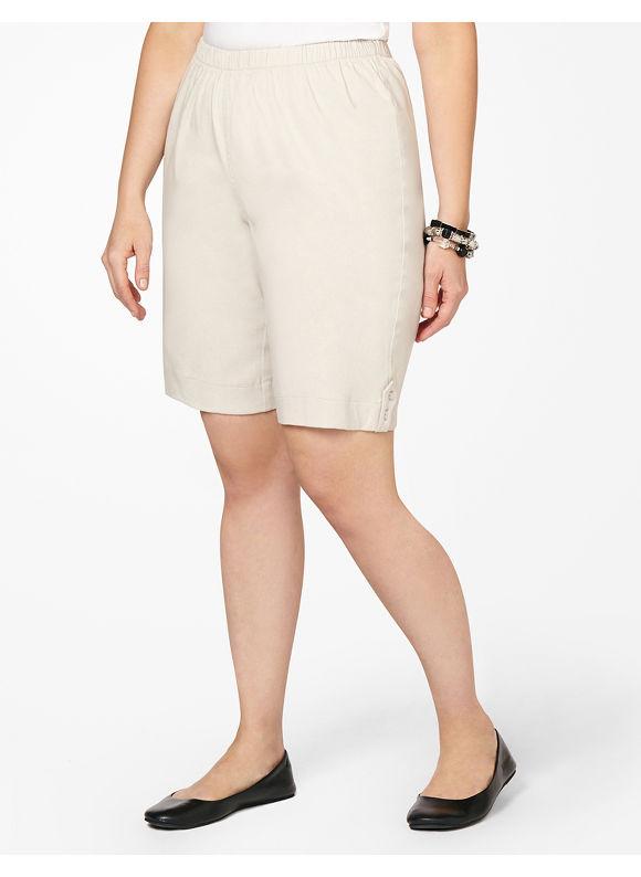 Catherines Plus Size Everyday Short - Pale Khaki