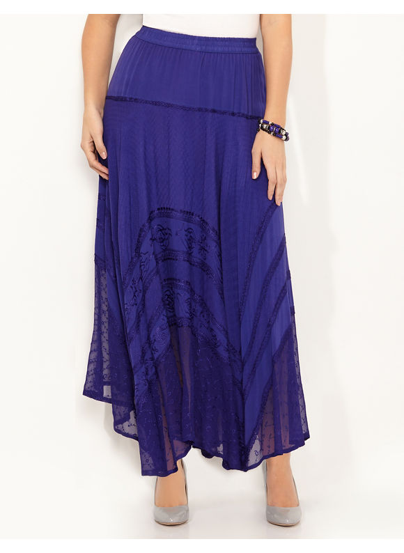 Catherines Plus Size Testament Skirt, - purple