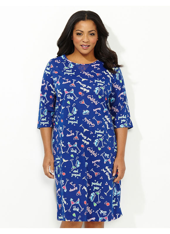 Catherines Plus Size Shake Me Up Sleepshirt