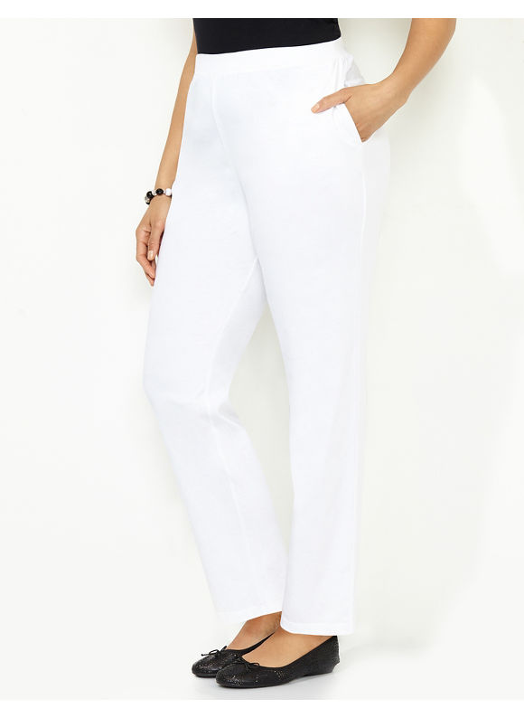 1b318f3a5cd9b UPC 554056340042 product image for Catherines Plus Size Suprema Knit Pant  (Modern Colors)