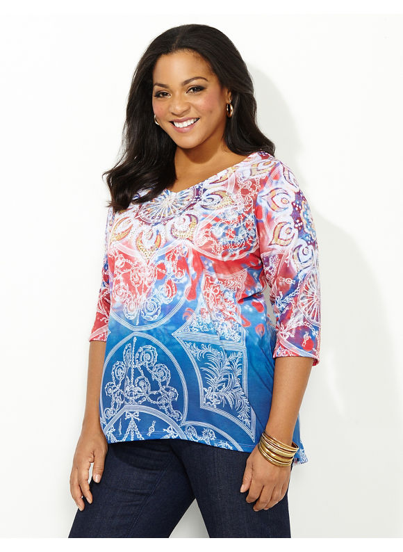 Catherines Plus Size Entranced Opulence Top