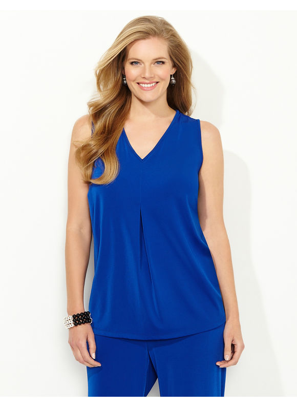 Catherines Plus Size Perfect Fit Tank - Galaxy Blue
