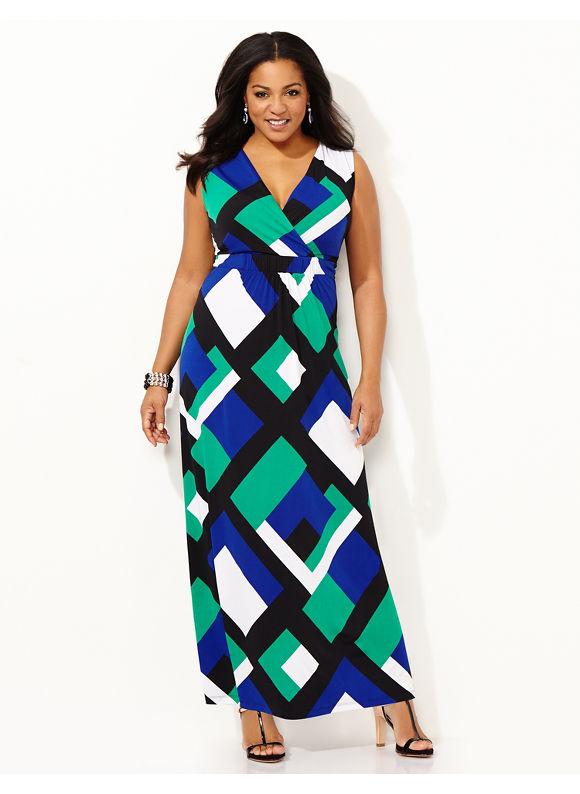 maxi dress plus pattern