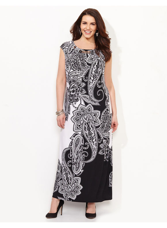 Plus Size Everything & More Maxi, Catherines Women's Size 0X, black
