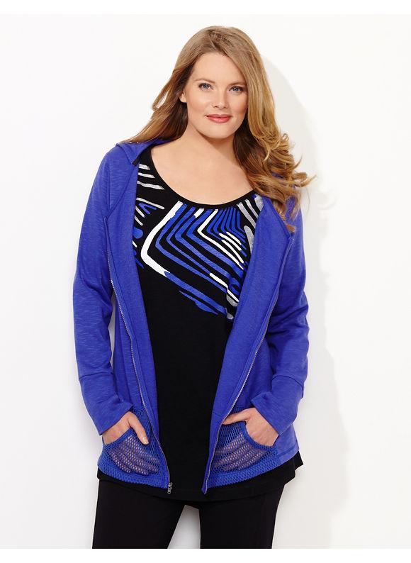 Catherines Plus Size Breezy Spring Jacket - Viva Violet
