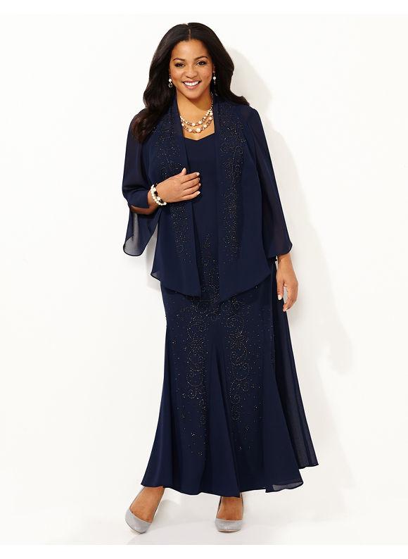 Plus Size Polished Presence Jacket Dress Catherines Womens Size 18W Light Violet $179.00 AT vintagedancer.com